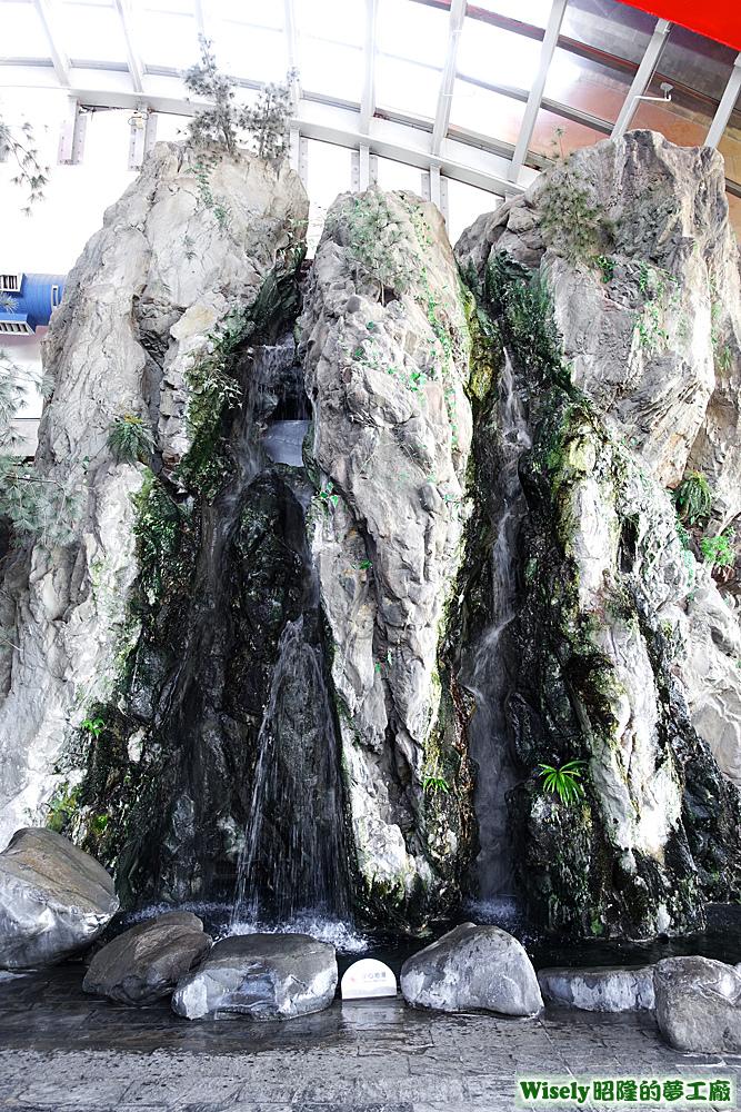 台灣水域館瀑布