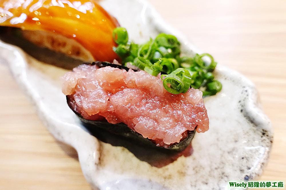 蔥花鮪魚軍艦壽司