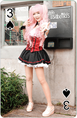 ACC看榜娘撲克牌(黑桃3)