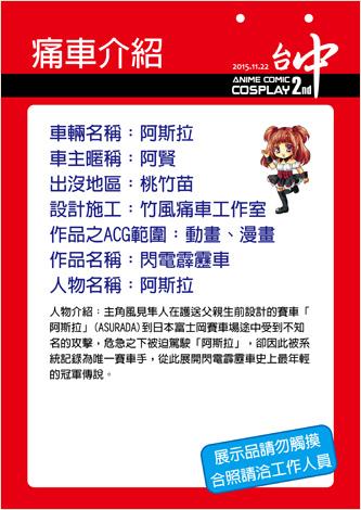 ACC2痛車介紹牌(阿賢)