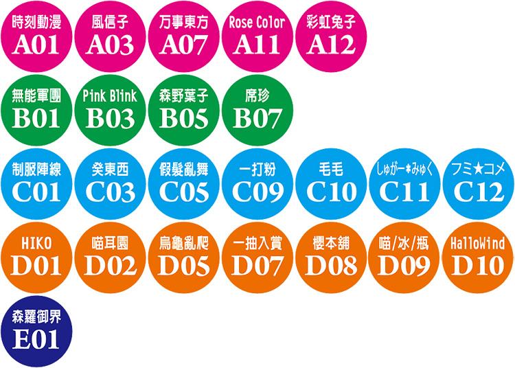 ACC2社團攤位點數貼紙
