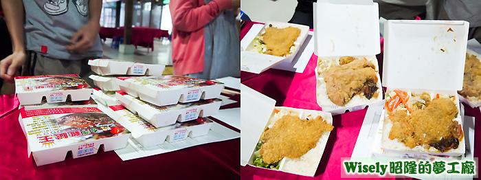 台灣雞腿王便當(酥炸香雞排飯/日式排骨飯)
