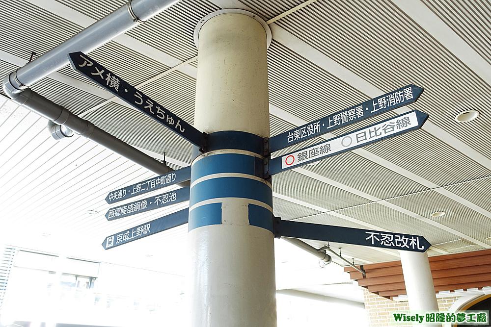 JR車站指示牌