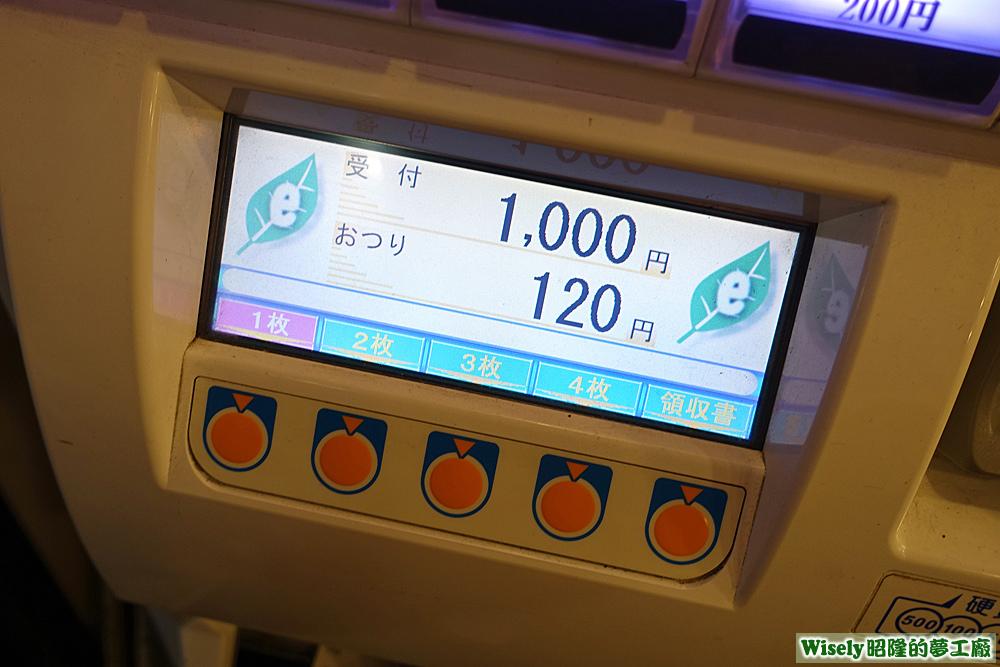 食券機金額顯示面板