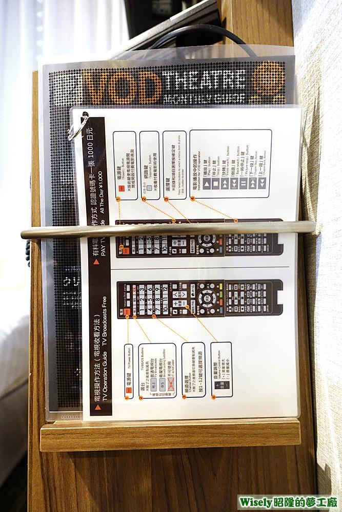 電視遙控器操作手冊