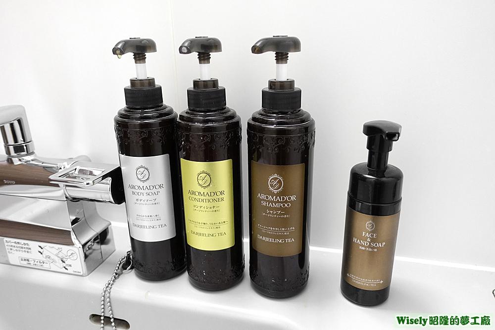 沐浴乳、潤髮乳、洗髮乳、洗手乳