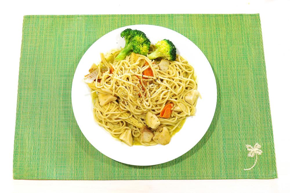 青醬義大利麵(五辛素)