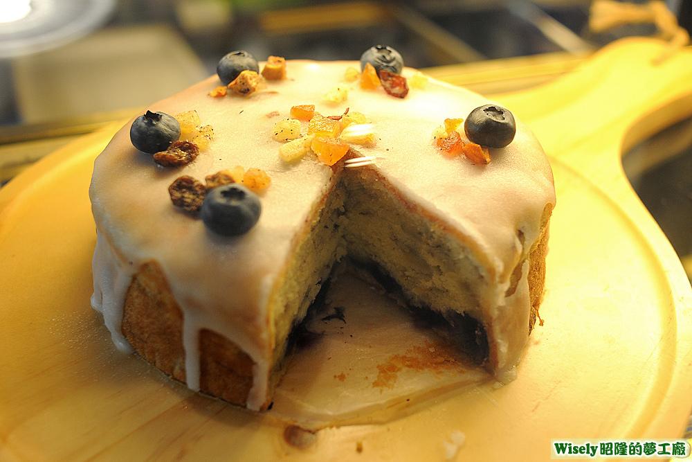 藍莓香蕉蛋糕