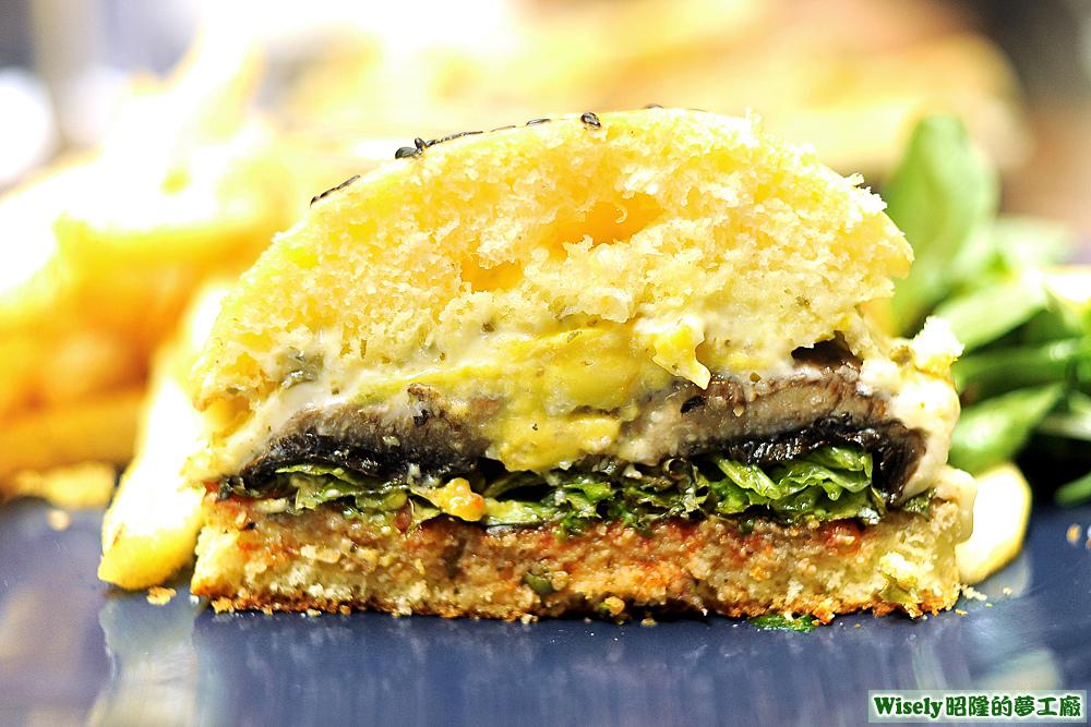 波特貝勒蘑菇堡
