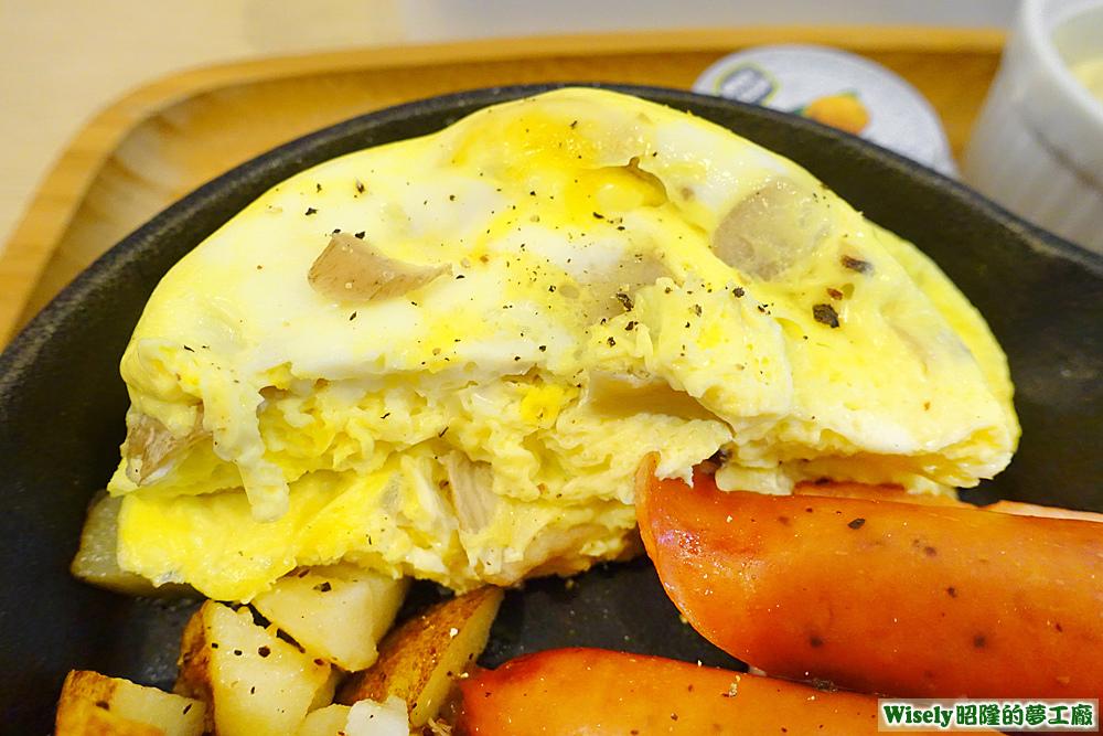 奶油野菇嫩蛋