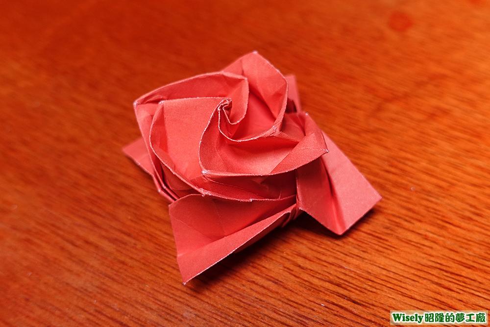 丸子折的玫瑰花