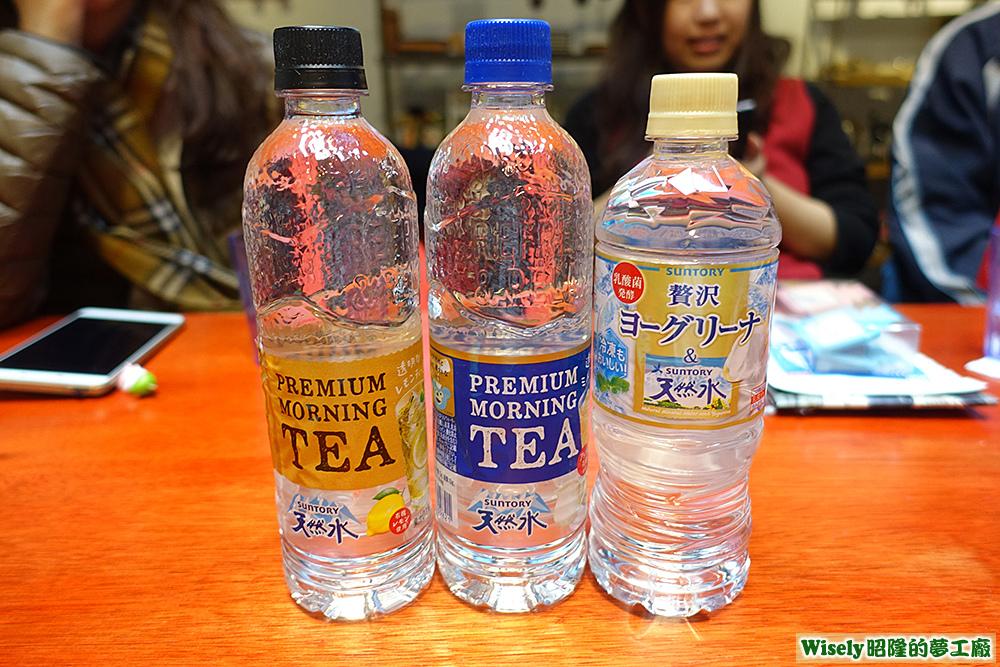 SUNTORY(檸檬風味飲/奶茶風味飲/優格味礦泉水)