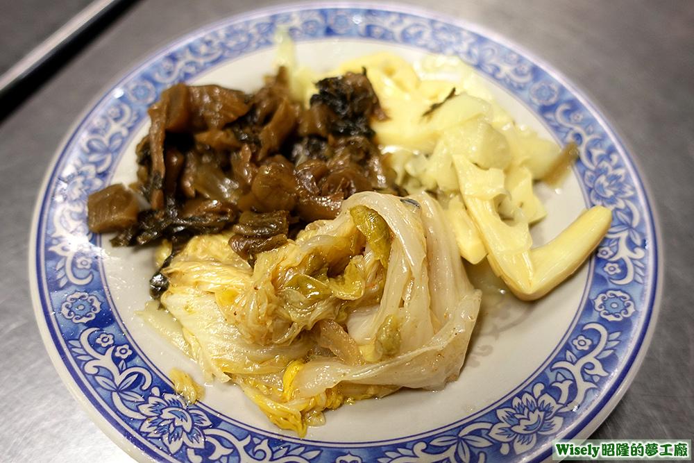 配菜(福菜/滷白菜/筍乾)