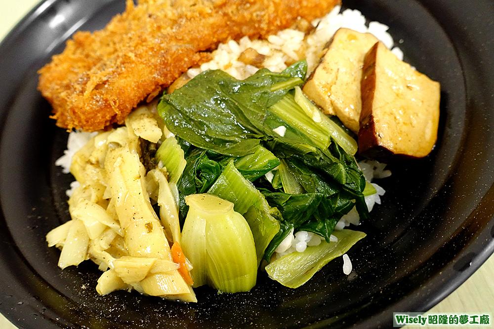 筍干、青菜、豆干