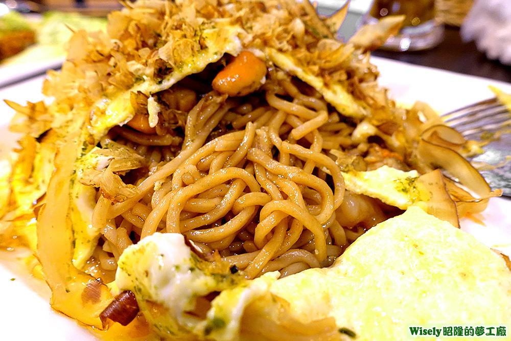 大阪和風炒麵(玉子海貝)