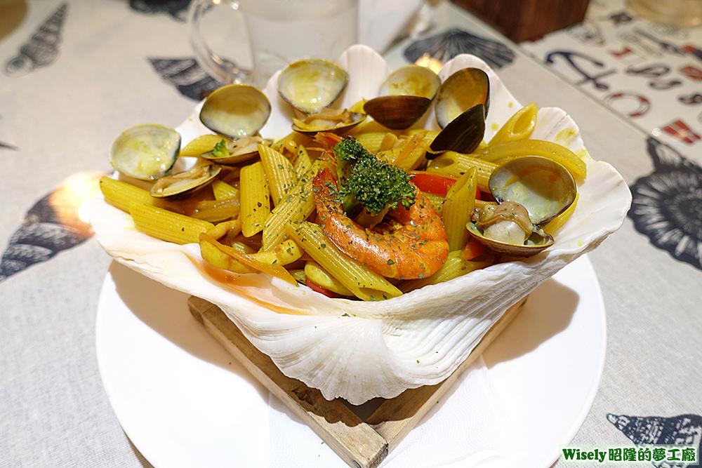 印度咖哩海鮮筆管麵
