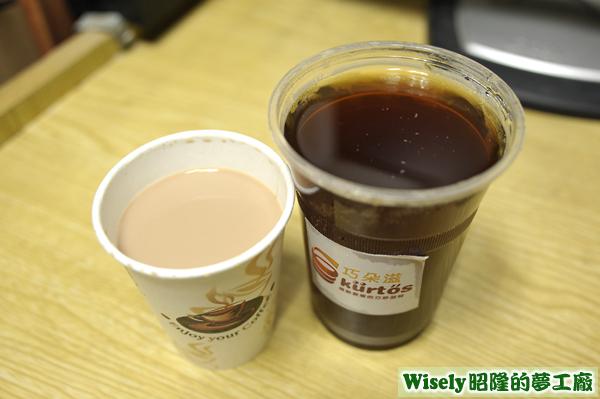 英式約克夏香草奶茶、英式伊莉莎白果香紅茶
