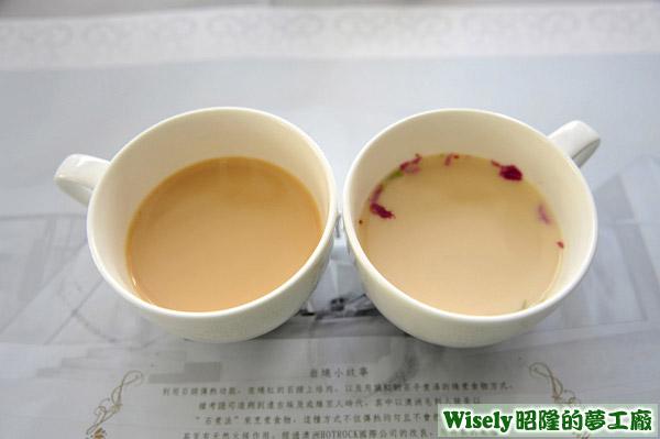 維多利亞伯爵奶茶(熱)、凡爾賽玫瑰奶茶(熱)