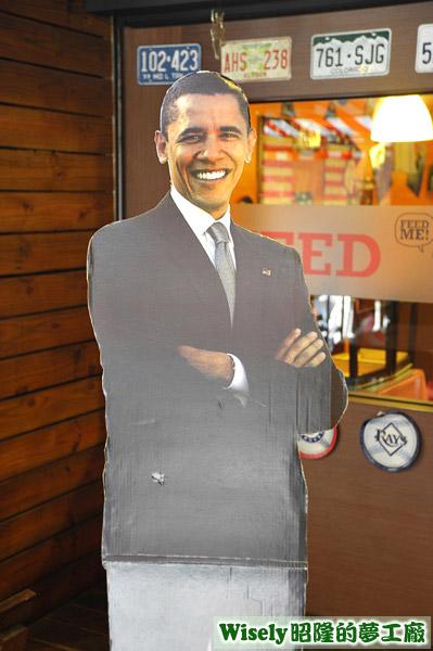 美國總統歐巴馬立牌