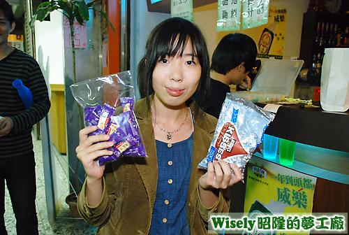小米的禮物:KISSES巧克力等