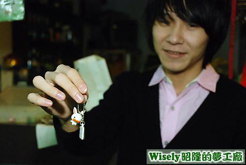 娃娃的禮物:兔子鑰匙圈