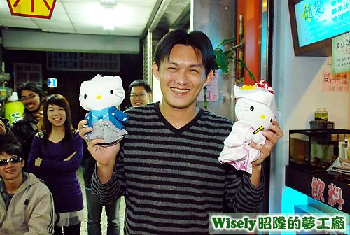阿峰的禮物:Hello Kitty玩偶一對