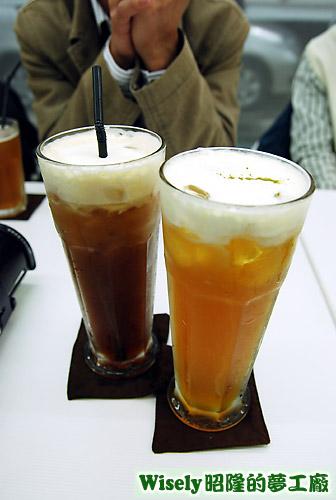 紅茶牛奶、綠‧蓋茶