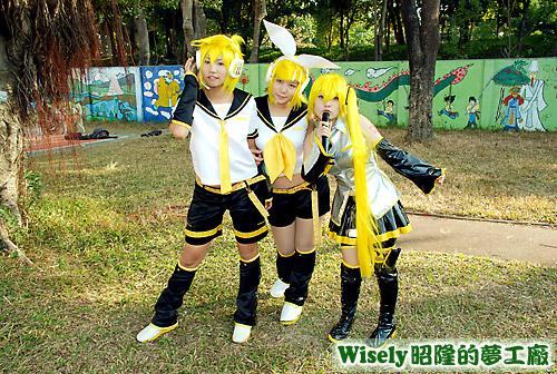 Vocaloid:鏡音蓮、鏡音鈴、亞北ネル(初音亞種)