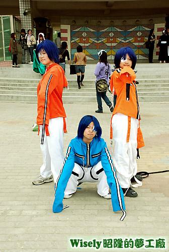 飛輪少年:咢(藍)、亞紀人(橘)