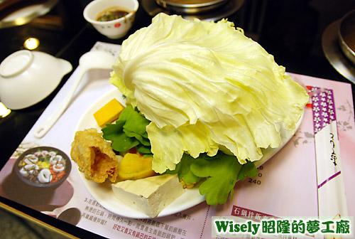 火鍋的蔬菜盤