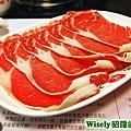 霜降牛肉火鍋的肉片