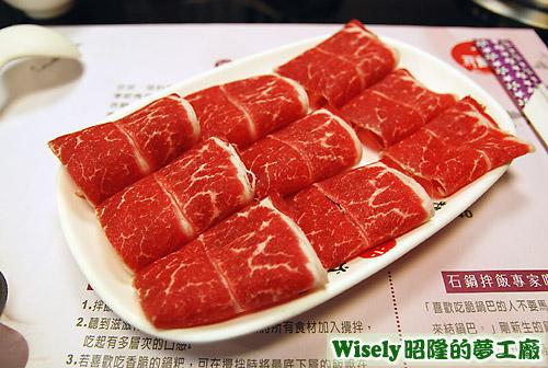 沙朗牛肉火鍋的肉片