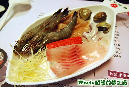 海鮮火鍋的海鮮食材