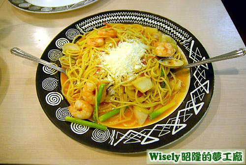 蘆筍海鮮義大利麵(大)