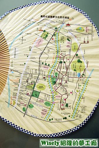 楓扇上的楓樹社區導覽地圖