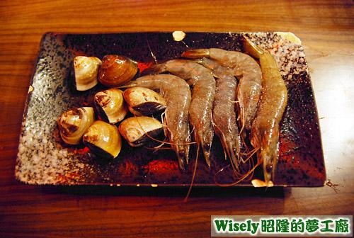 蛤蜊、鮮蝦