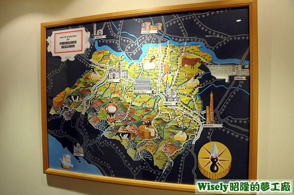 法國起司地圖