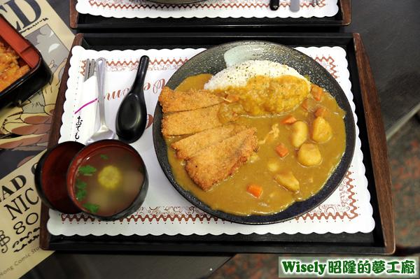 台式豬排咖哩飯