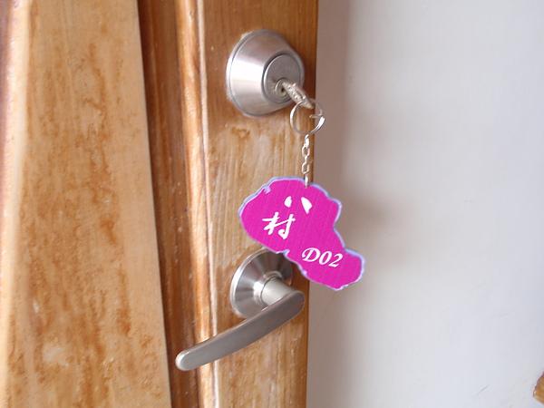 房間鑰匙,鑰匙的顏色就是房間的顏色,後面是小琉球的簡易地圖