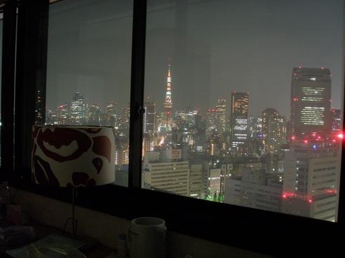飯店房間的夜景