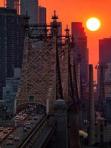 紐約第59條街大道日落