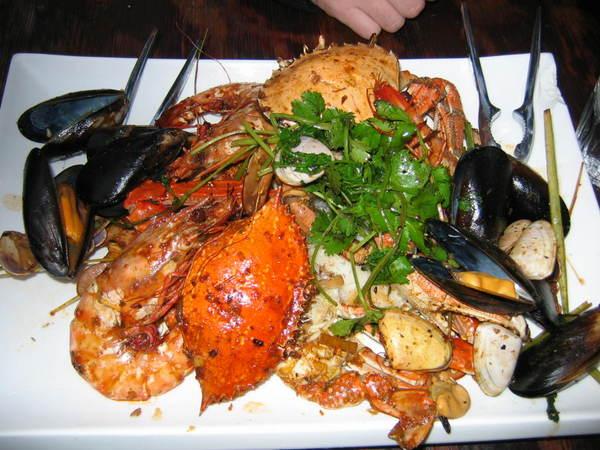 seafood dinner... yumm yumm