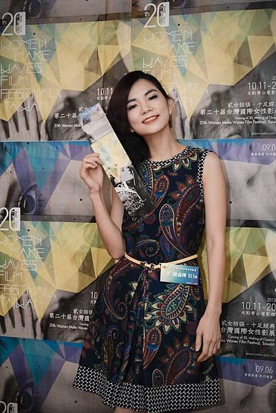 照片1:2013女性影展大使Ella與超值套票合影,推薦第二十屆女性影展