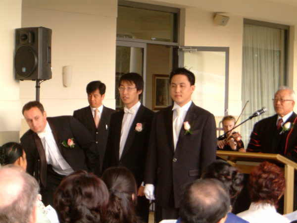 on the wedding ceremony