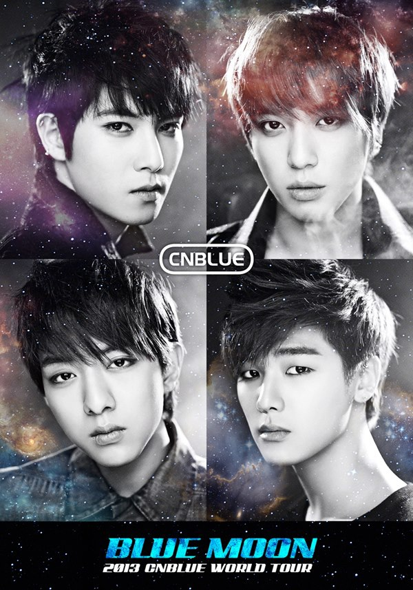 2013 CNBLUE BLUE MOON WORLD TOUR Official poster