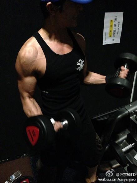 汪東城粗壯手臂爆出多條青筋 粉絲擔憂健身過度