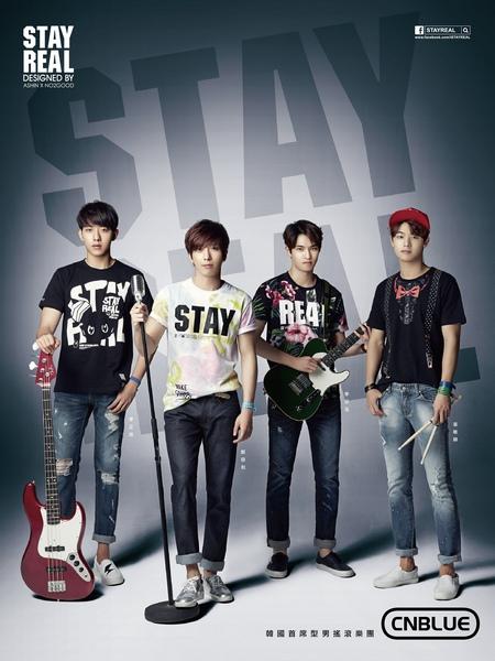 STAYREAL 力邀韓國首席型男搖滾樂團 CNBLUE 代言,領軍打造全新 K–ROCK 潮流!
