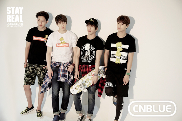 CNBLUE拍攝STAYREAL X The Simpsons