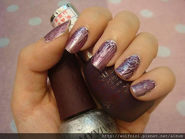 紫色爆裂指甲油
