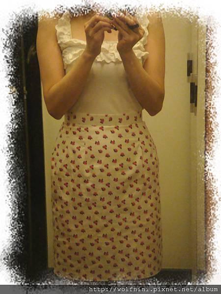 人生第一件自製直筒裙